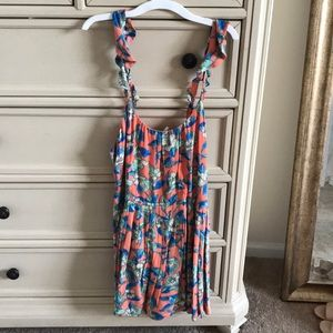 Free People Orange Floral Dress. size small